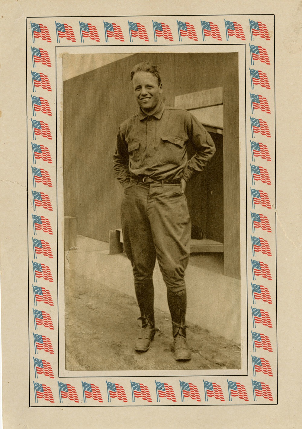 Sepia Quentin Roosevelt Military Pose