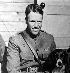 Lt. Quentin Roosevelt in the 95th Aero Squadron, U.S. Concession Territory, U.S. 1917.