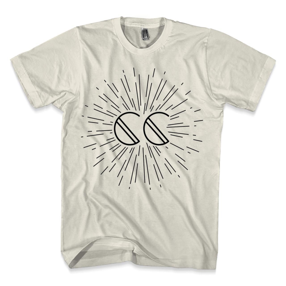 "Firework T   Classic T inspired by the Canyon City single ""Firework"". This t-shirt is perfect for sparking some summer fun. The Canyon City initials in a classic black, printed on a natural toned t-shirt. 100% cotton ensures a comfortable material with medium weight. This fashion fit comes in sizes Small to 3XL, so add this classic tee to your summer t-shirt collection with this special Canyon City Tee!"