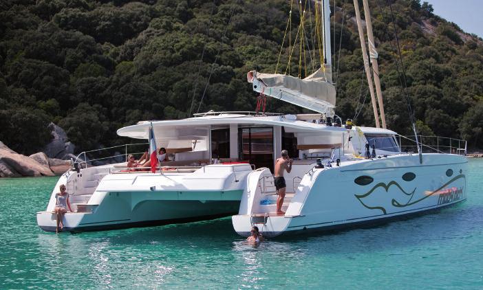 Catamarã Sardenha, Corsega