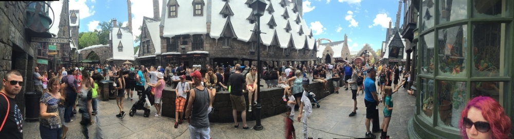 "Crowded, but still so much fun. Just had to wait in line at most of the fancy ""use your wand to make magic"" spots."