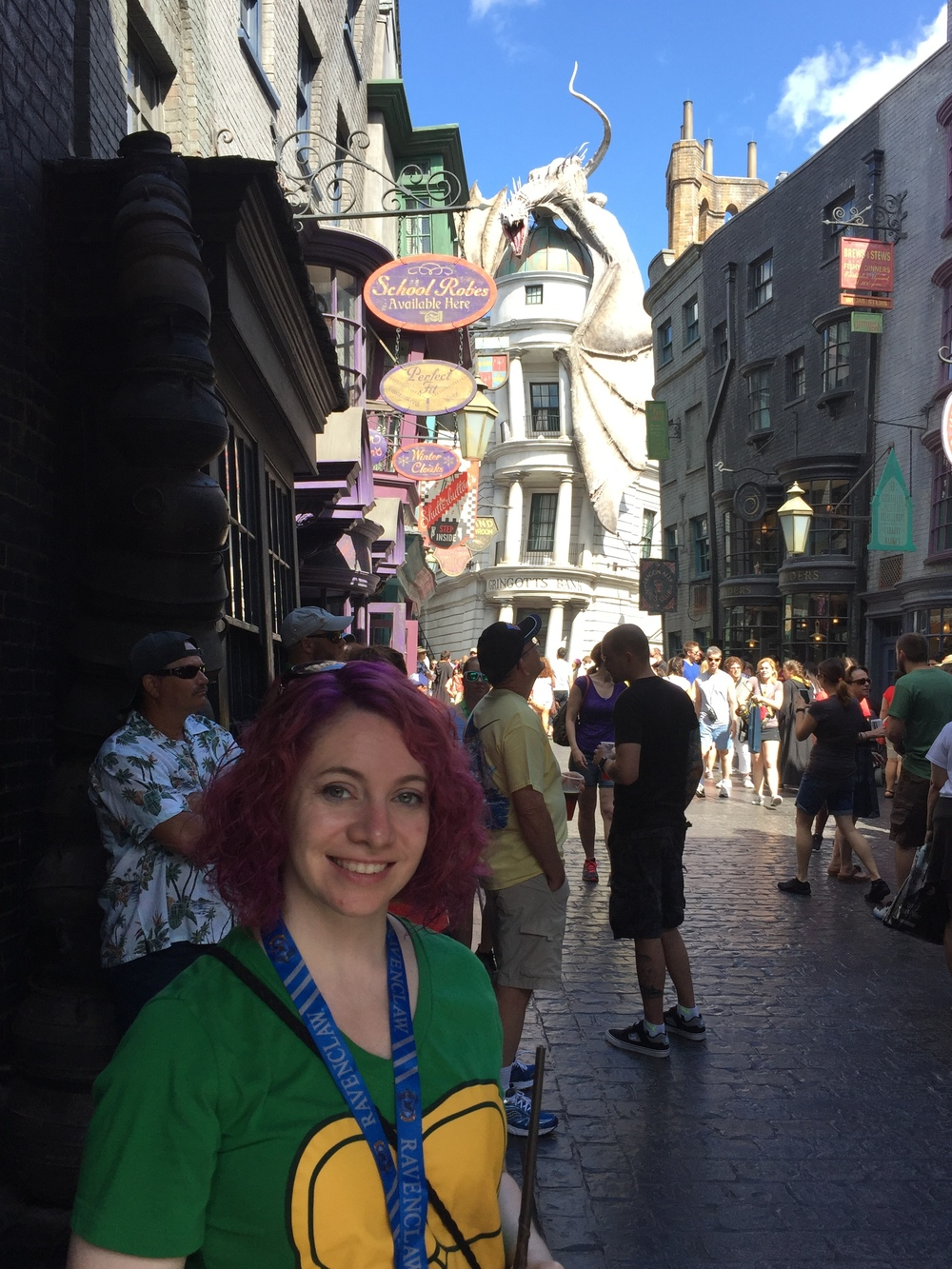 Hanging out in Diagon Alley.