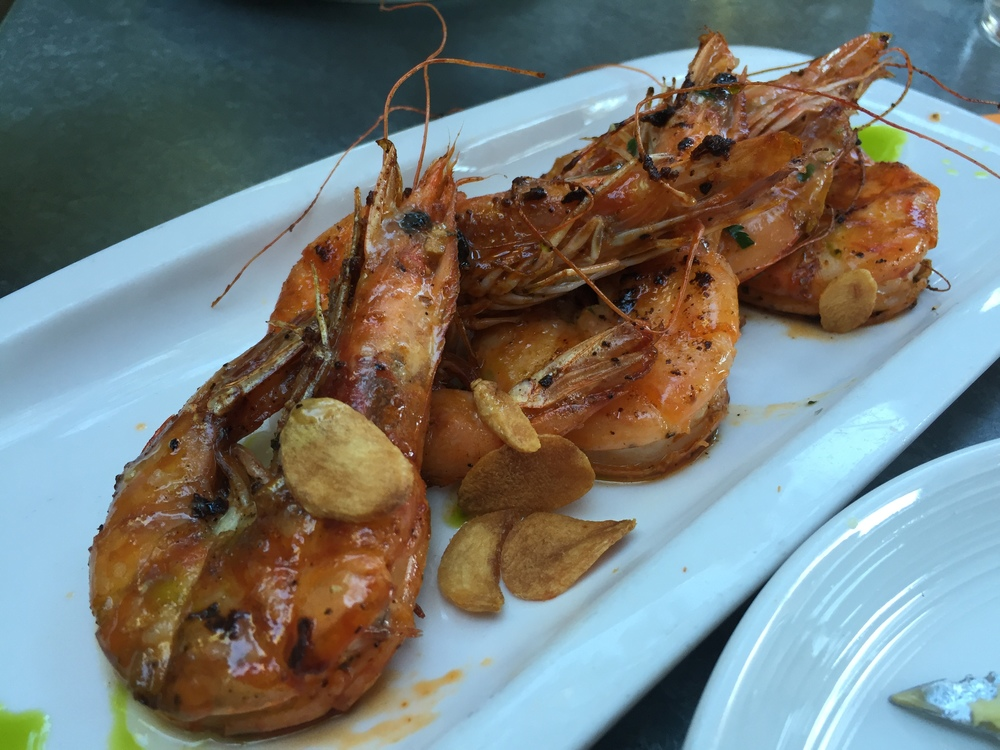 Delicious prawns at Bravas in Healdsburg
