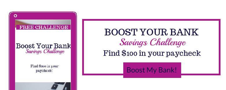 Boost My Bank Savings Challenge