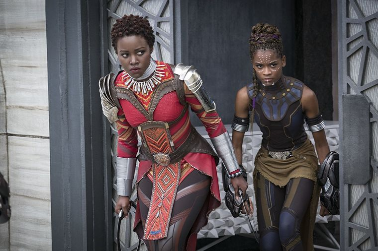 Nakia (Lupita Nyong'o), left, and Shuri (Letitia Wright) from  Black Panther