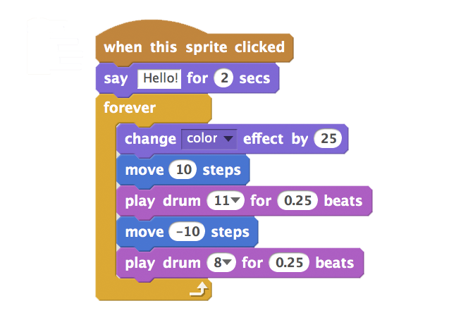 Scratch coding blocks