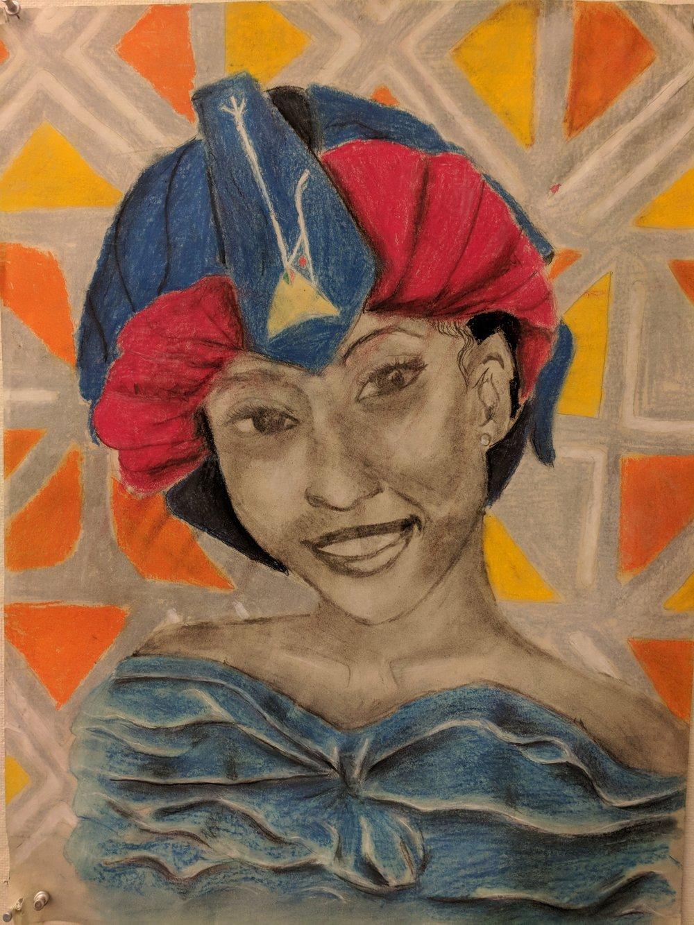 Marie's Sankofa Self-Portrait