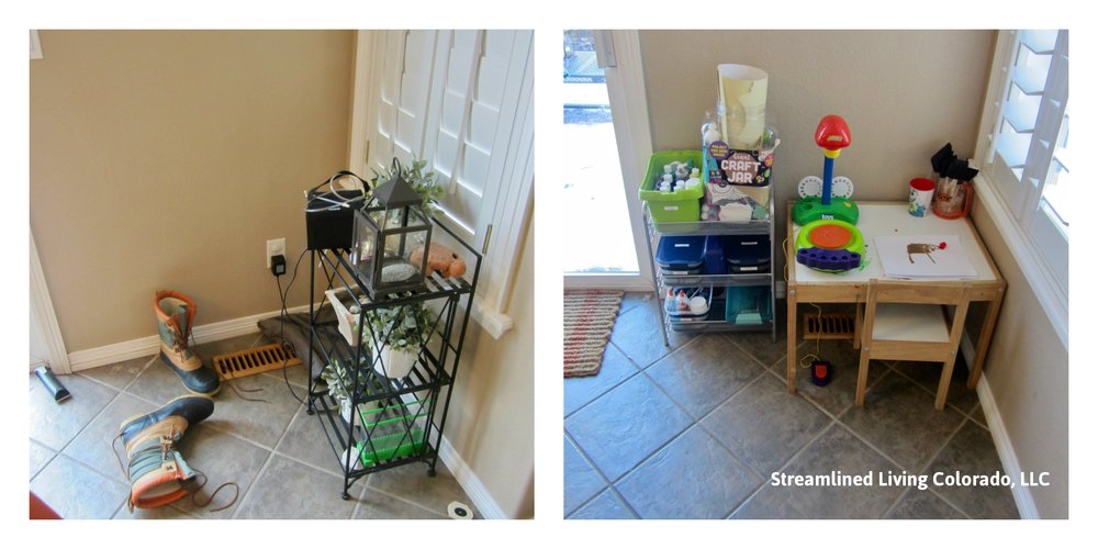 Art corner professional organizer organized reorganized signed streamlined living colorado.jpg