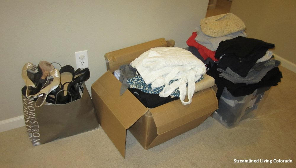 purge clothes donations master closet professional organizer streamlined living colorado