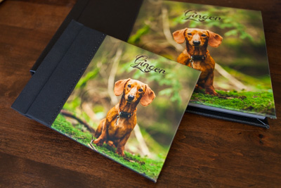 Coffee table albums and companion albums are all custom ordered