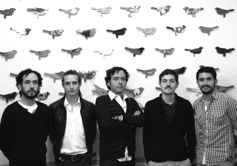 "Suhab co-founders: Antonio de la Fuente, Jose Ignacio Nuño, Rodrigo Fuentes, Antonio de la Rosa, and that's me.   The back wall is a project called ""El Nido"" (The Nest) which uses scrap material from previous productions to create collaborative interventions with artists and designers around the world."