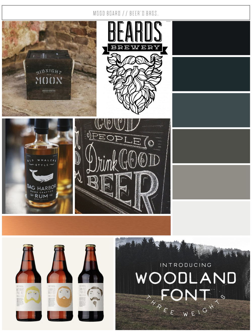 Beer'd Bros. Mood Board