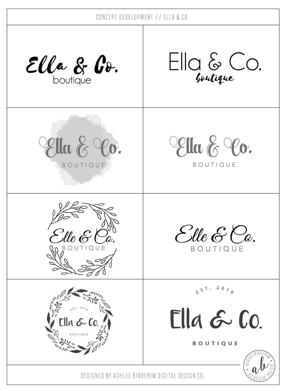 Ella & Co. Concept Development
