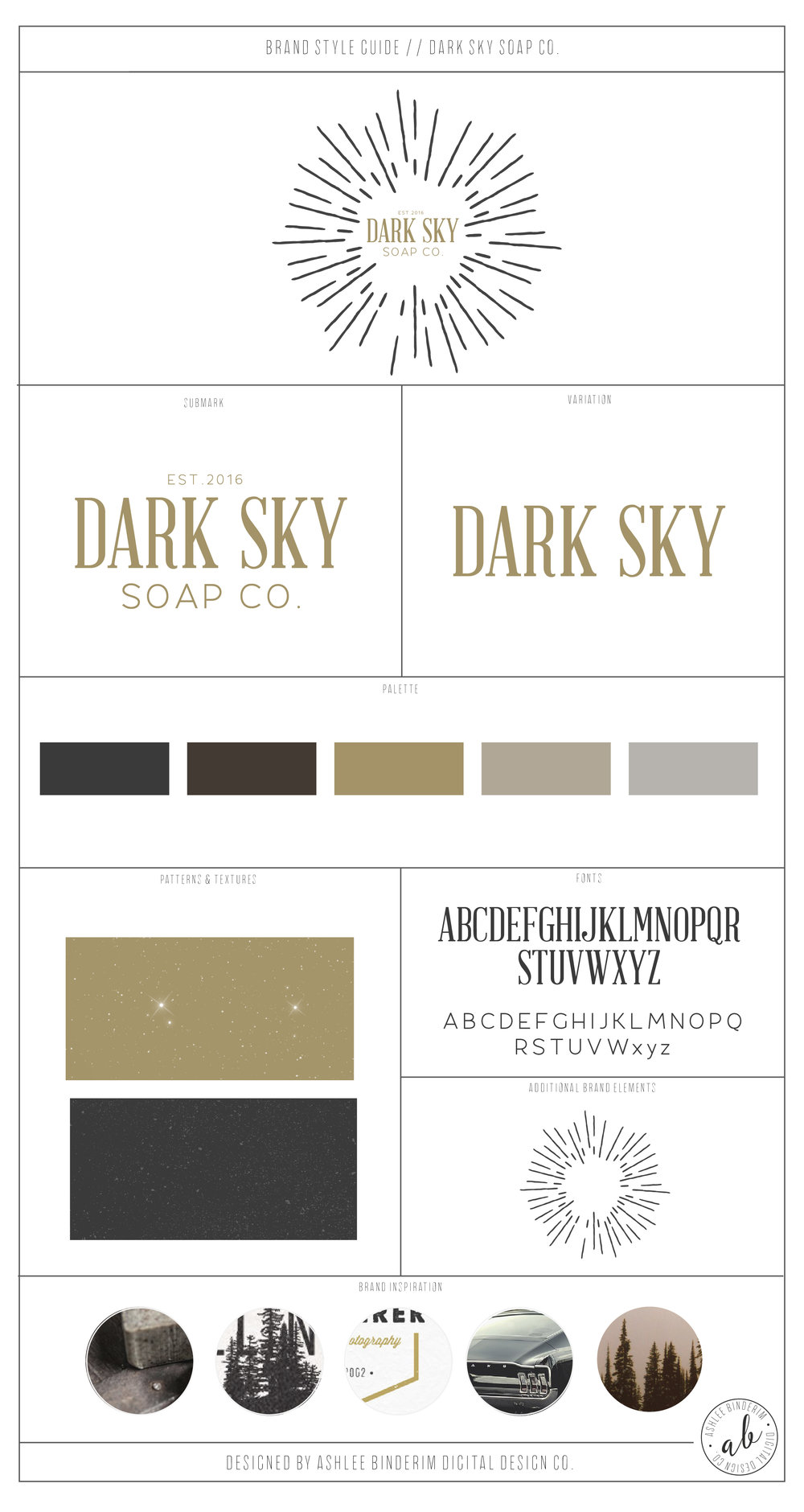 Dark Sky Soap Co. Brand Style Guide