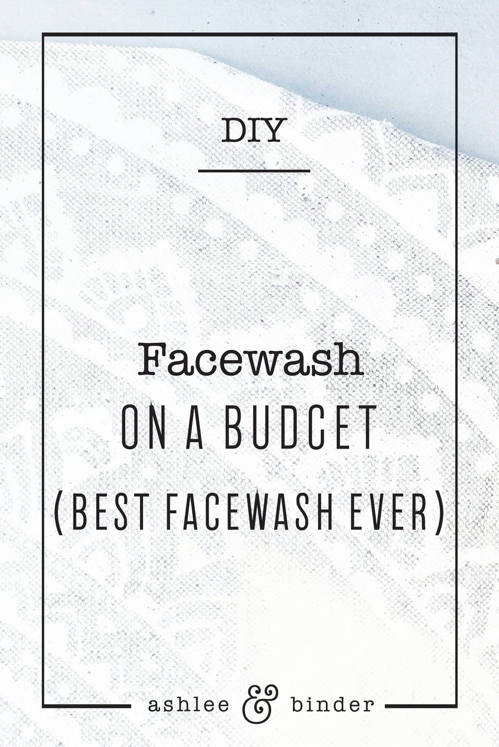 DIY Facewash