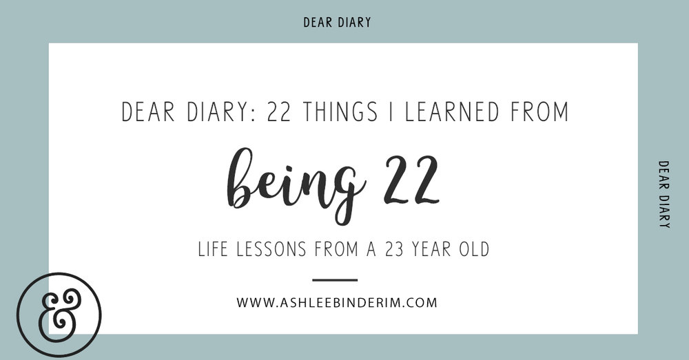 22 things I learned from being 22