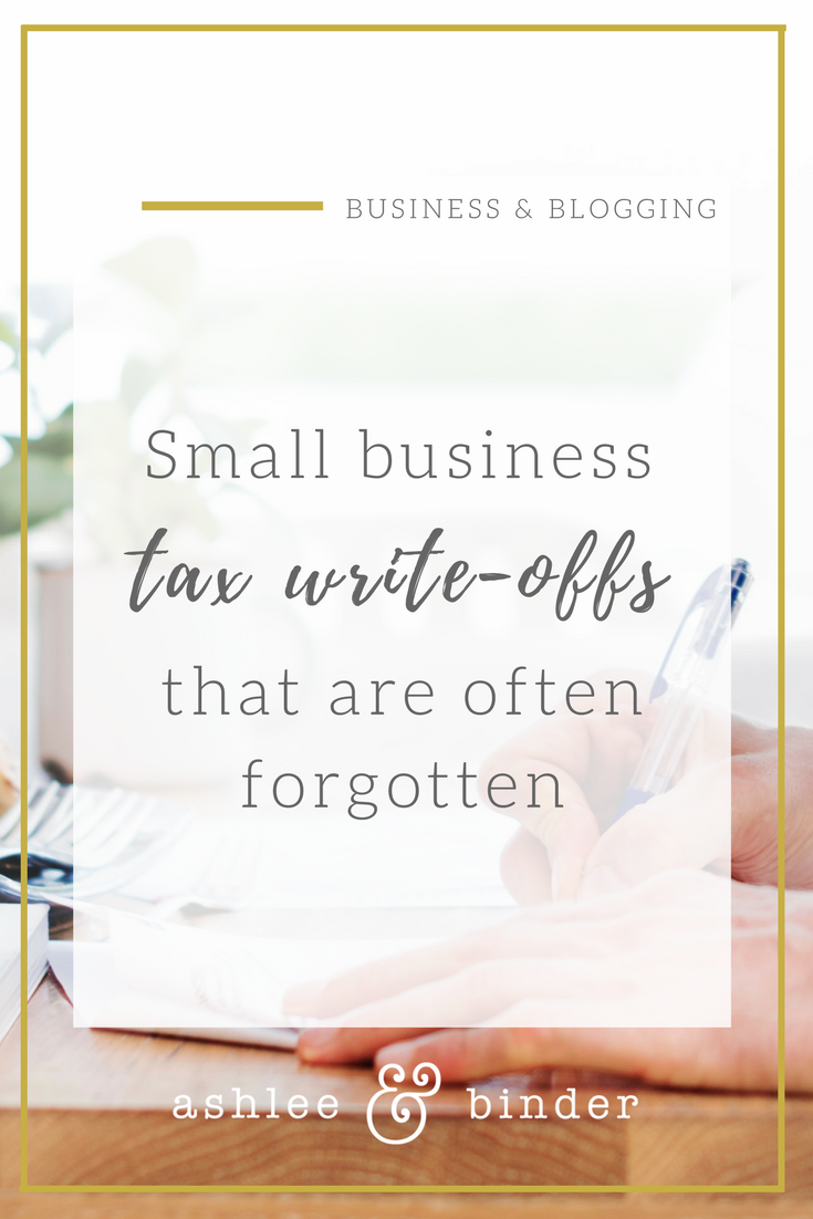 small business tax write offs that are often forgotten