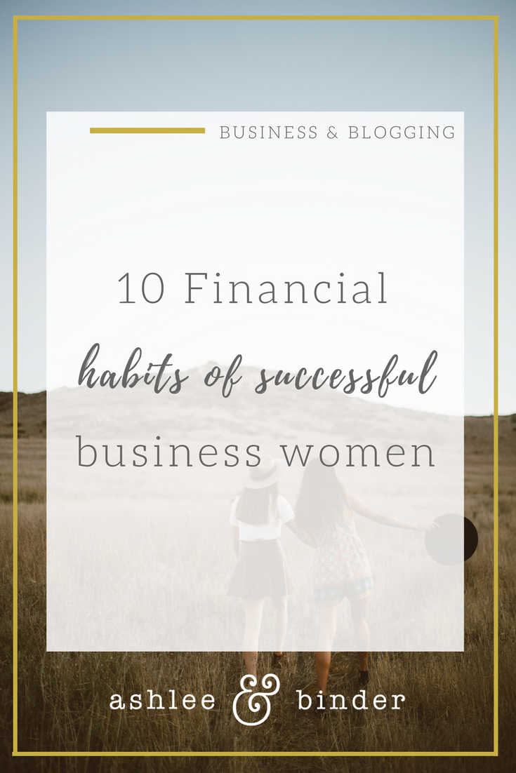 10 financial habits of successful women
