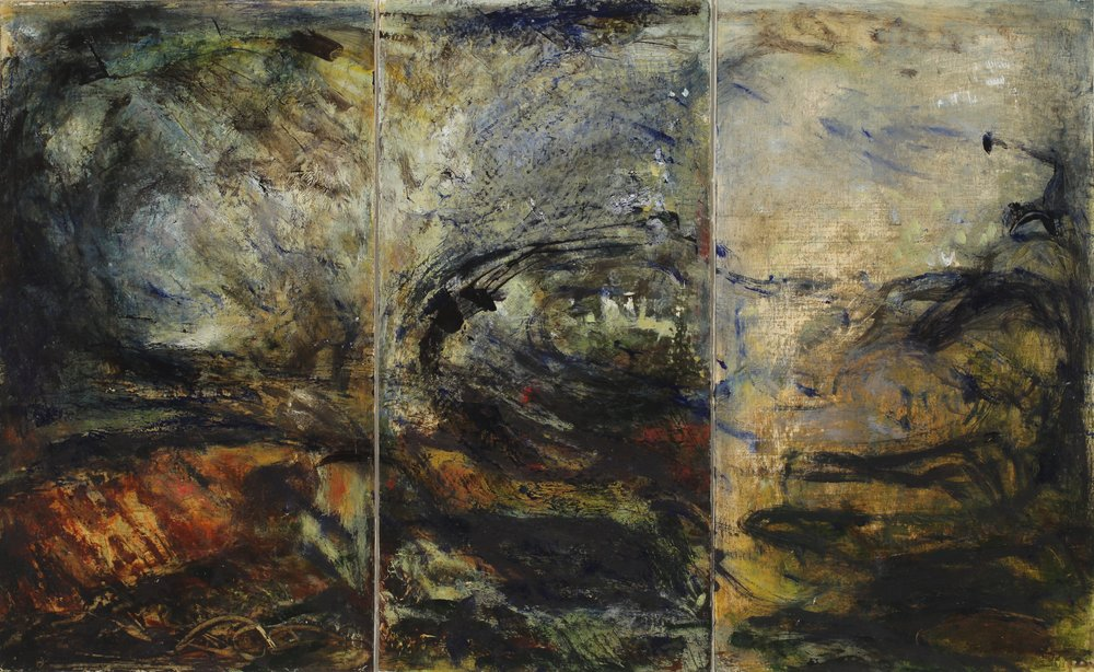 Study for vertical (triptych)