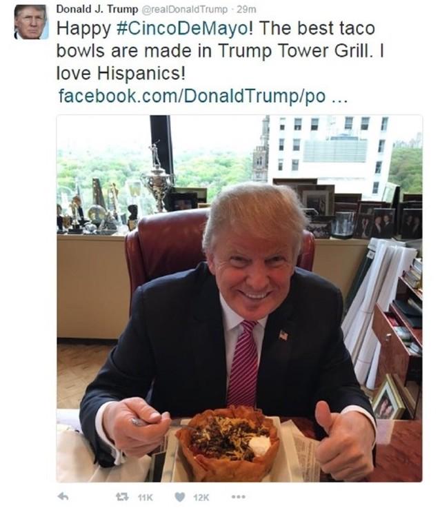 See? Trump loves Hispanics.