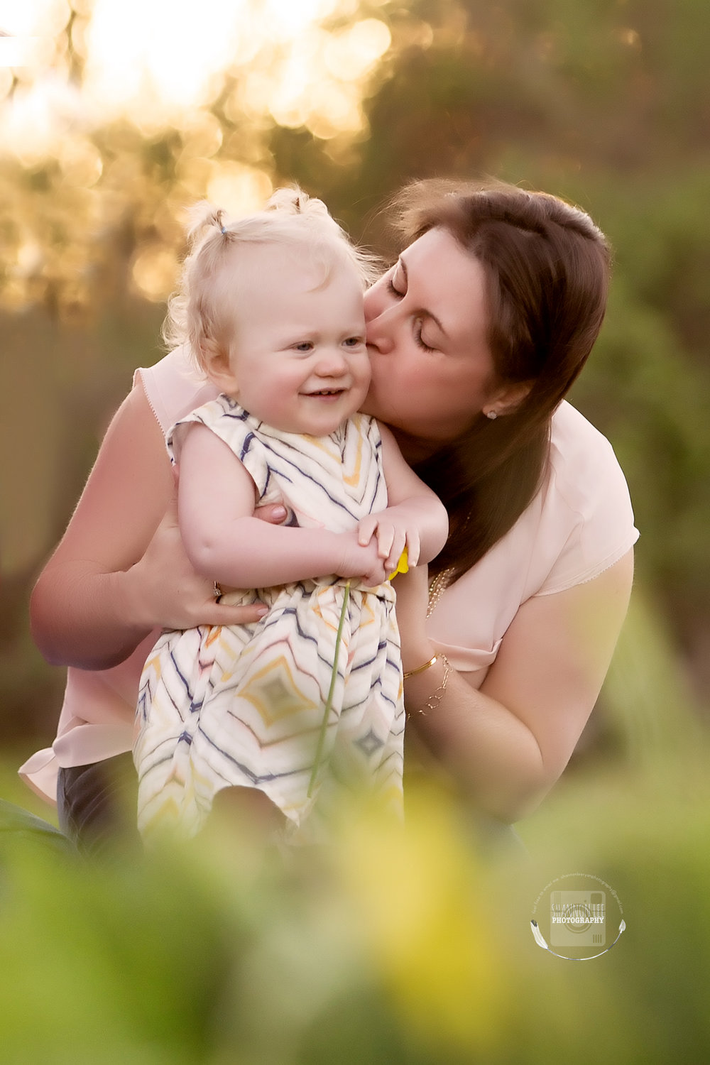 Mother kissing toddler | Mommy and Me session | Mother's Day Portrait