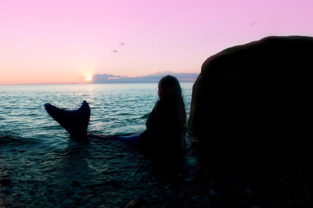 Mermaid silhouette  by Ocean Sunset