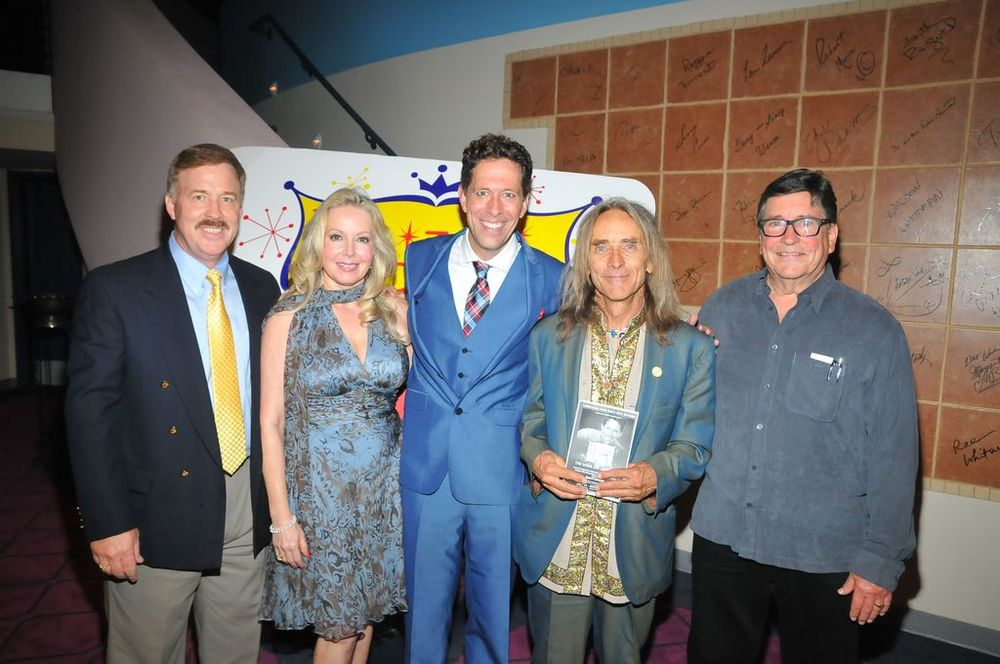 El Portal Theater DDAF benefit with Doris's movie kids: Brian Nash, Kym Karath, Ted Quinn, and Christopher Olsen.jpg