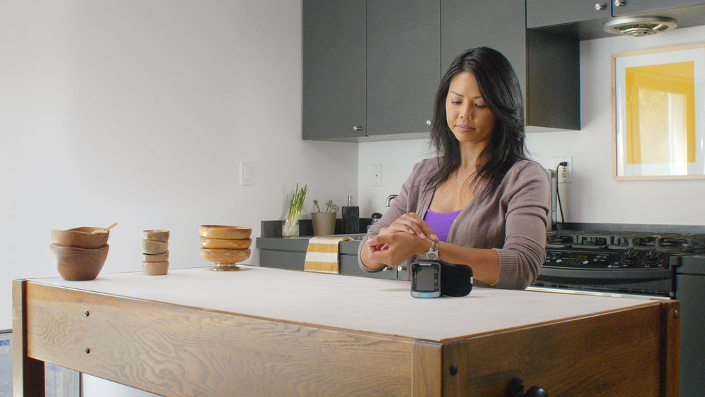Stills from our video for HealthSmart's new line of blood pressure monitors