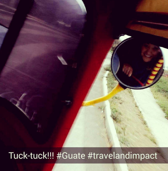 Traveling by tuck-tuck was an experience.