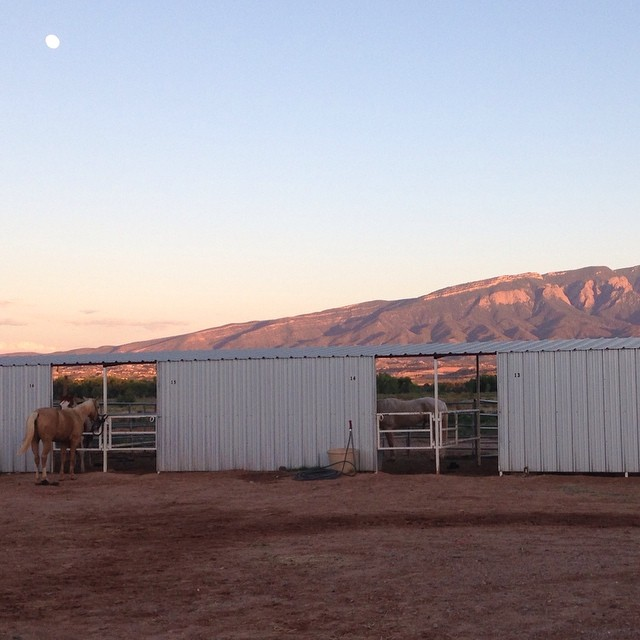 Stables at the Hyatt Regency Tamaya on the Santa Ana Reservation in Bernalillo, New Mexico