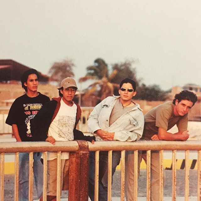 Back in the year 1997 a band of brothers had their first ever photo shoot in the warm city of Piura, Peru. In this is Pre-MAYTA era we had Michael Brandon on vocals, @ivanrimach on guitar, @vrimach on bass and @renatorimach on drums. The band's name was #FeDeErratas  Can you say #tbt ?!?? So serious..! So 90's! . . . #Piura #Peru #Maytaband #mayta #perurock #DallasMusic #LatinRock #papiricky #90s