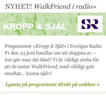 WalkFriend i radio