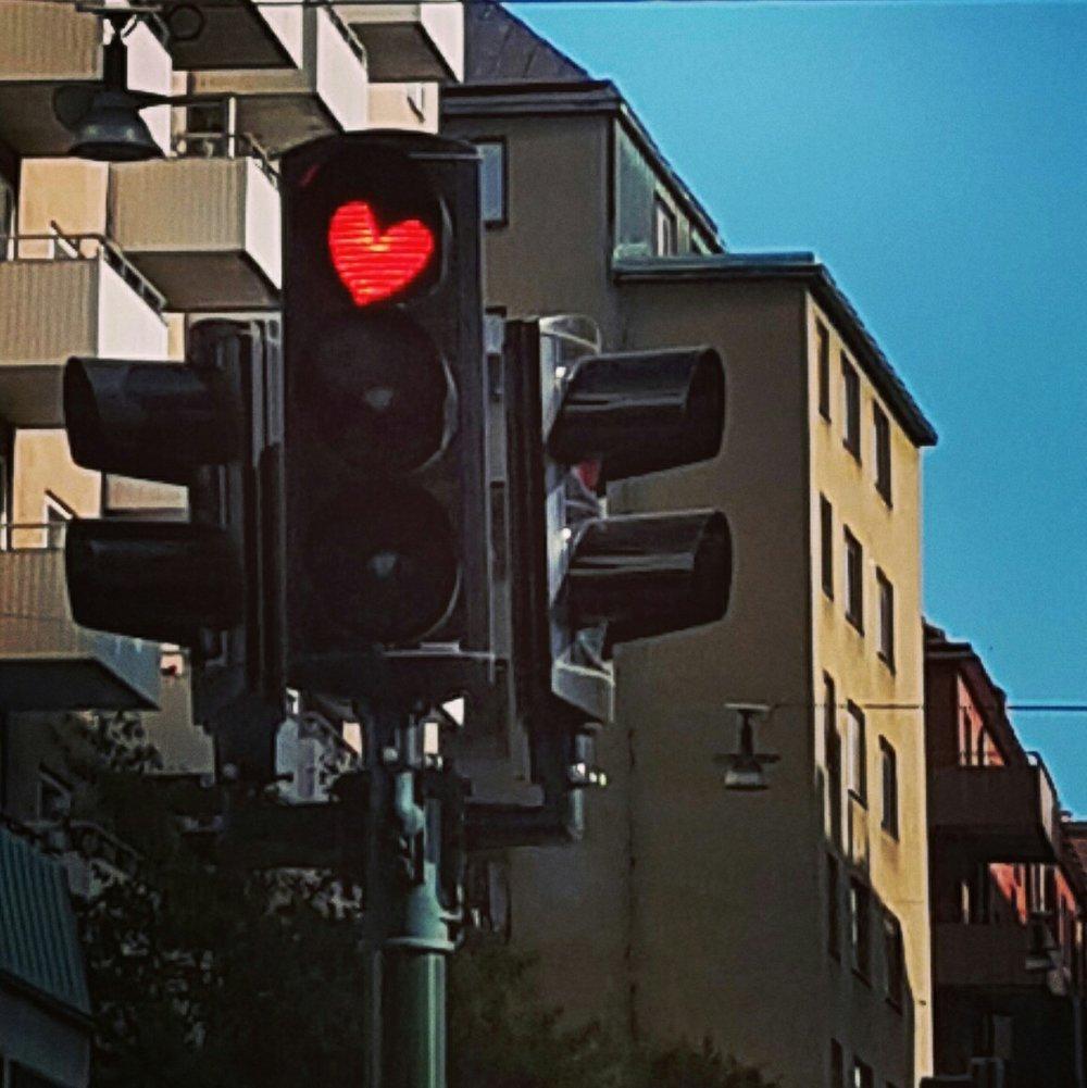 Trafikljus på söder i Stockholm