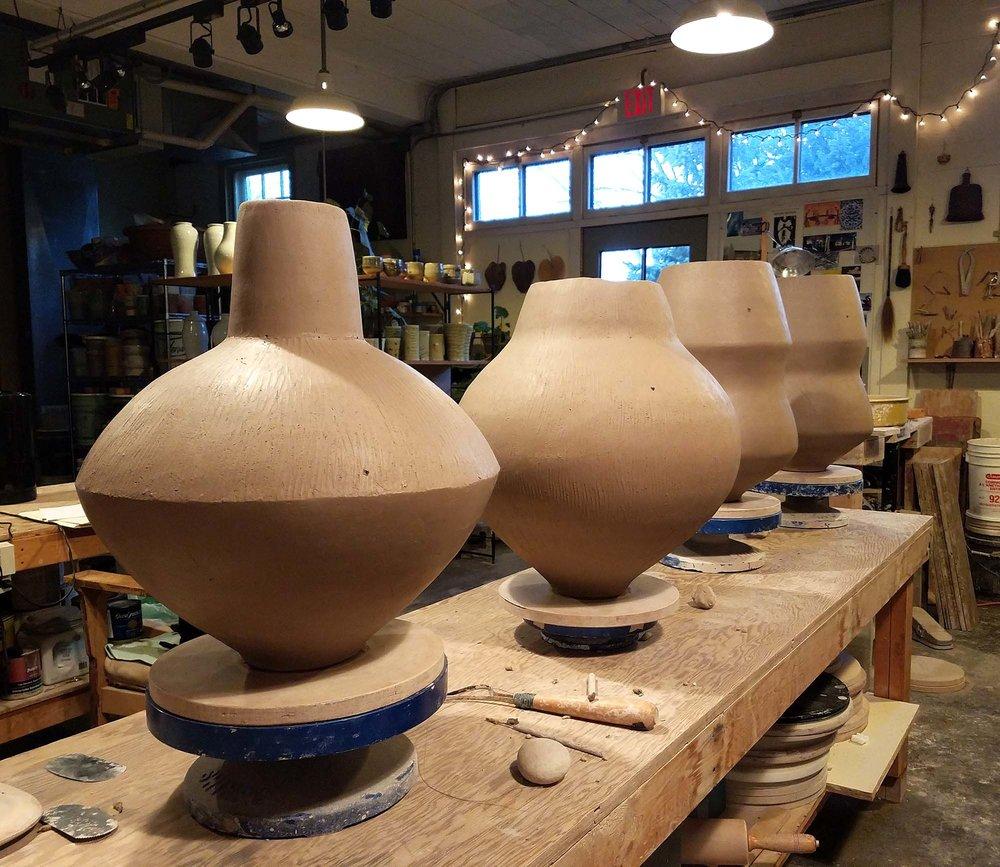 Some recent coil pots.