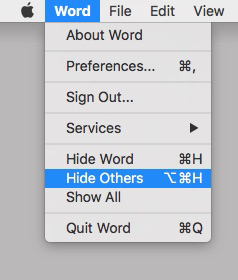 Hide and Hide Others are a pair of my favorite commands, and, not coincidentally, a pair of my favorite keyboard shortcuts.