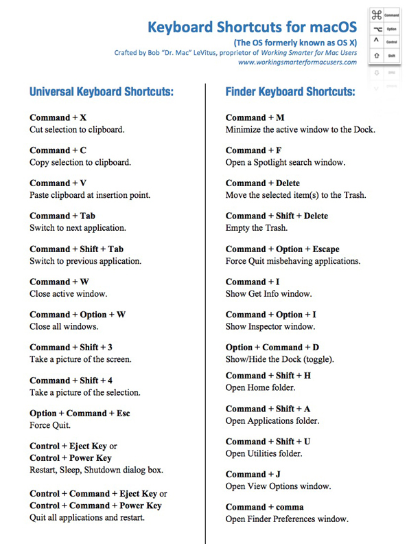 Goodie #2Keyboard ShortcutCheat Sheet -