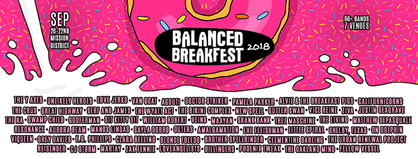 The full lineup for Balanced BreakFEST 2018, September 20th-22nd.