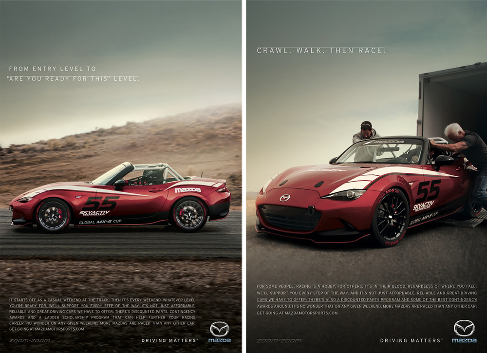 Mazda MX-5 Cup Car Ads
