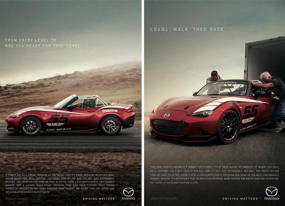 Mazda MX-5 Cup Car Ads