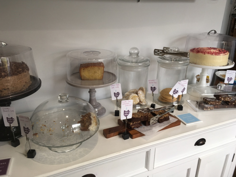 The table of cakes!