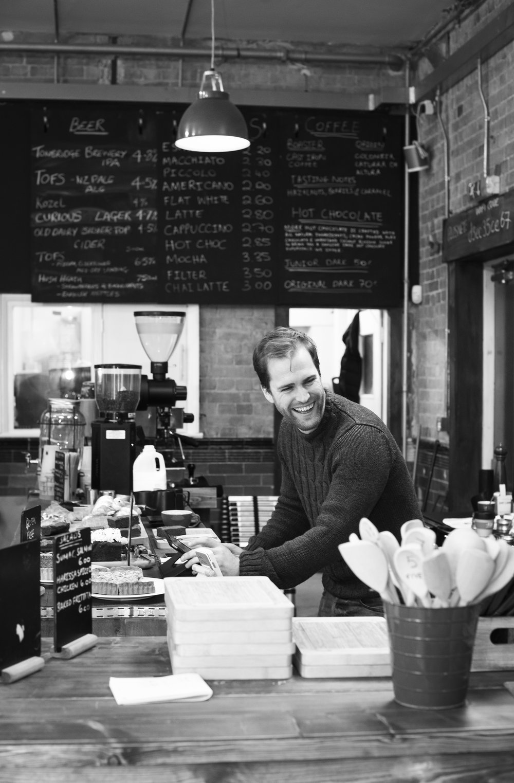 David at work- photo courtesy of Alma Photography @almaphotography