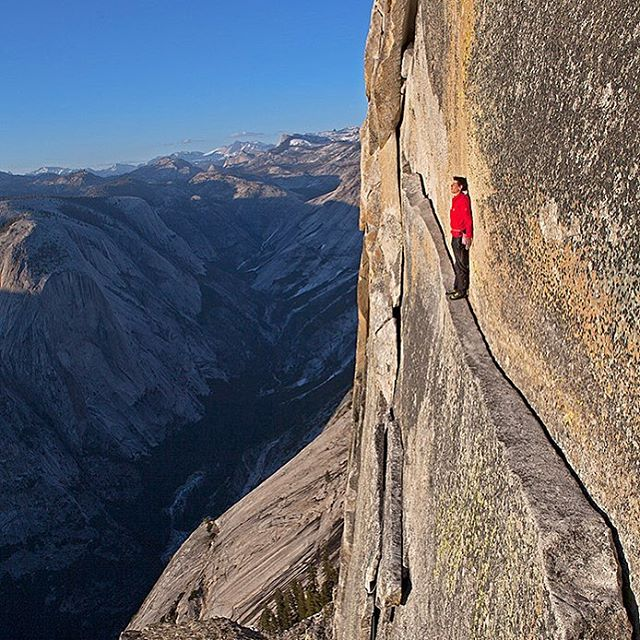 Photo @jimmy_chin of @alexhonnold contemplating life decisions. This image was the cover of @natgeo and is currently for sale as part of the @natgeocreative print sale in celebration of earth day....check out the link in my profile for the full spread of amazing images from more @natgeo photogs!