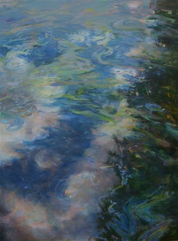 Floating Lake Reflections,  oil on canvas, 48 x 36 inches