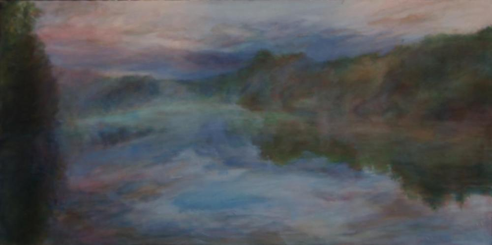 Lake Merlin,  oil on canvas, 24 x 40 inches
