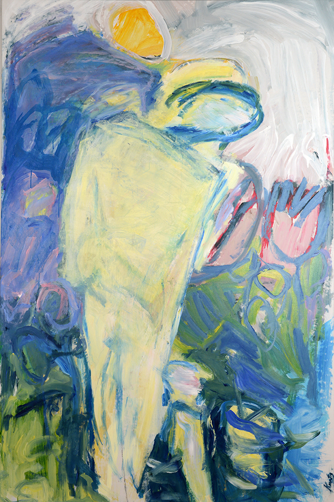 In the Garden 1,  acrylic on canvas, 72 x 48 inches