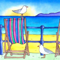 Big Bird on a Deck Chair II