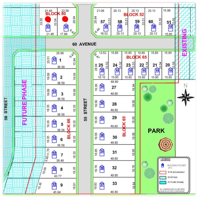 Deer Meadows Lot Plan, K&M Group, Alberta