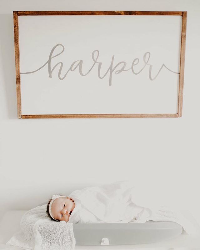 Sweet nursery decor for this adorable little girl! I love creating things for little ones!! Photo by @savkphoto