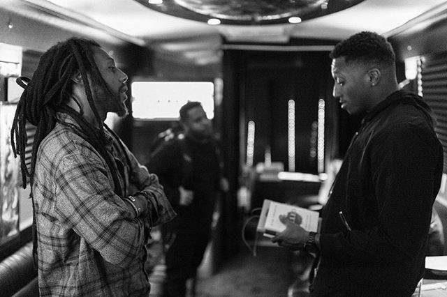 On tour with @lecrae and @prophiphop as a photographer. Getting to be a fly on the wall in a lot of these conversations and even join in on some has been amazing. (Follow @lecrae to see more of my photos) #higherlearningtour