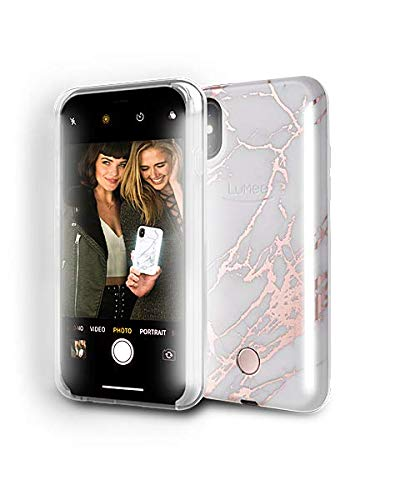 1. LuMee Phone Case - This is the latest design for the LuMee Light Phone case. It has FRONT & BACK light bars for selfies or taking photos of others. This new design features a super cute marble and metallic rose gold print. I have used LuMee cases for years and great lighting makes a huge difference! This model fits the iPhoneX and iPhoneXS. There are plenty of other cases you can browse through to find the case that fits your phone. Glow on, glow getter!$69.95